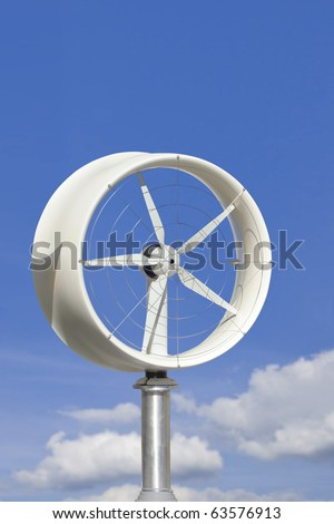 rooftop home wind power turbine - stock photo