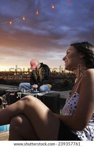 Rooftop Party - stock photo