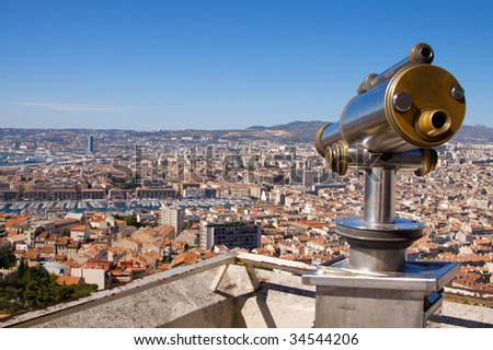 Rooftop view of Marseille - stock photo