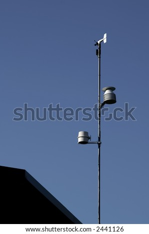 Rooftop Weather Station Vertical with room for Text