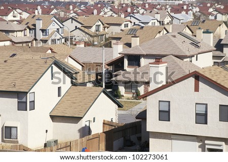Rooftops of houses - stock photo