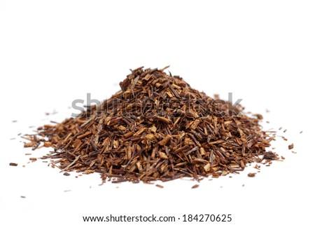 rooibos tea on white background - stock photo