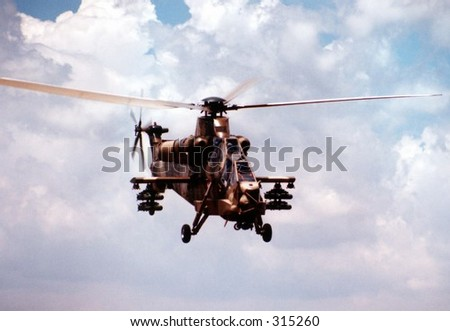Rooivalk Attack Helicopter - stock photo