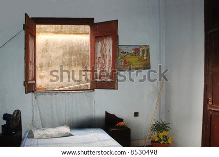 Room in Cuba, Baracoa with window and fittings