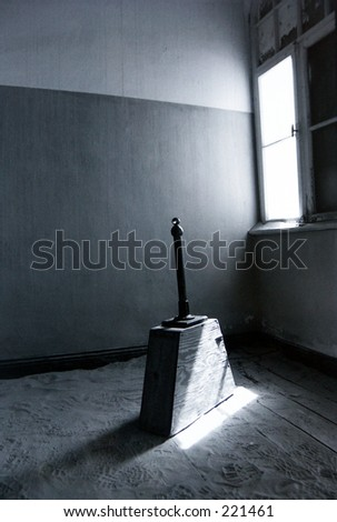 Room in the ghost town Kolmanskop,Namibia. - stock photo