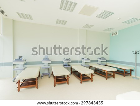 Room in the modern hospital - stock photo