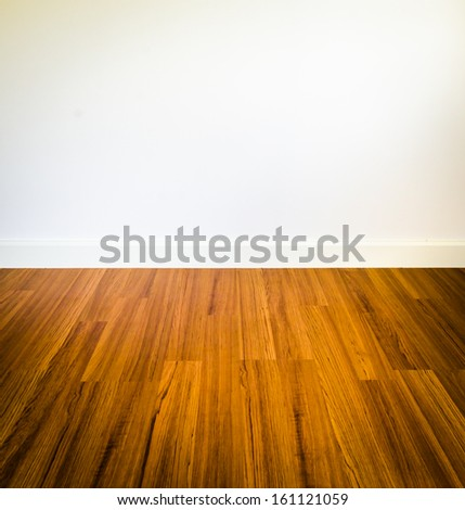 Room interior and brown wallpaper (Special process) - stock photo