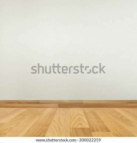 room interior and parquet floor  with white wall - stock photo