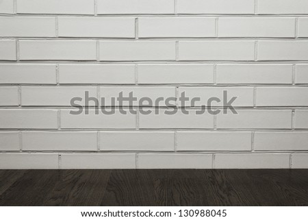 room interior with brick wall, perfect for background