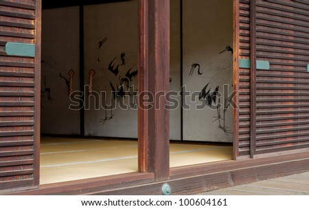 room of imperial palace in Kyoto Japan