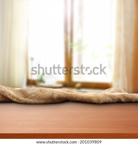 room of sunlight and desk of free space  - stock photo