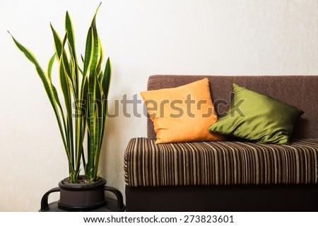 Room, wall, interior. - stock photo