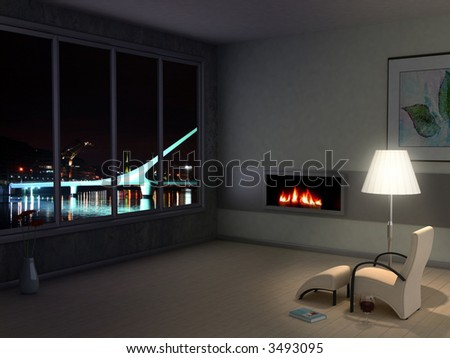 Room with a view - stock photo