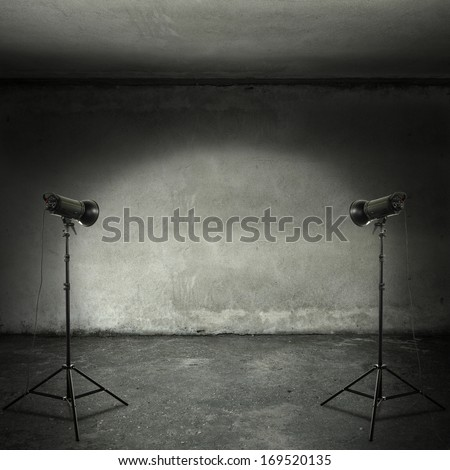 room with two lamps  - stock photo