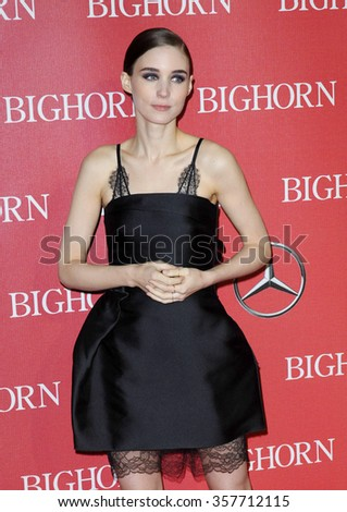 Rooney Mara at the 27th Annual Palm Springs International Film Festival Awards Gala held at the Palm Springs Convention Center in Palm Springs, USA on January 2, 2016. - stock photo