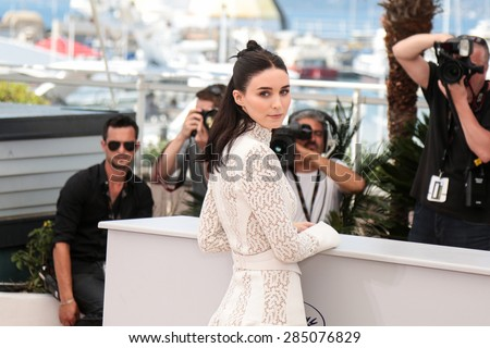 Rooney Mara,  attend the 'Carol' Photocall during the 68th annual Cannes Film Festival on May 17, 2015 in Cannes, France. - stock photo