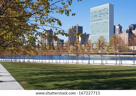 Roosevelt Four Freedoms park on Roosevelt Island, New York City