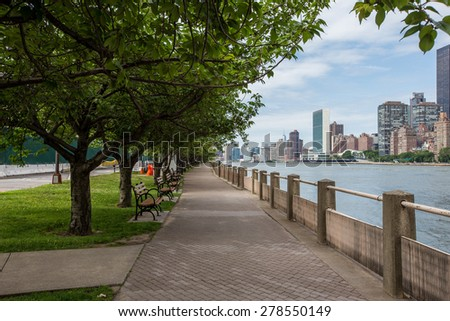 Roosevelt island in New York city
