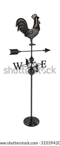 Rooster Weather vane - stock photo