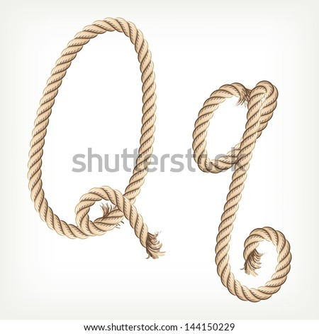 Rope alphabet. Letter Q. Raster version. Vector is also available in my gallery