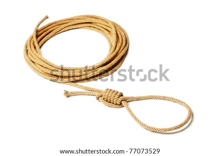 Rope and noose - stock photo
