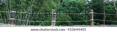 rope barrier - stock photo