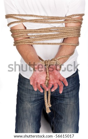 Rope Binding man's Hands