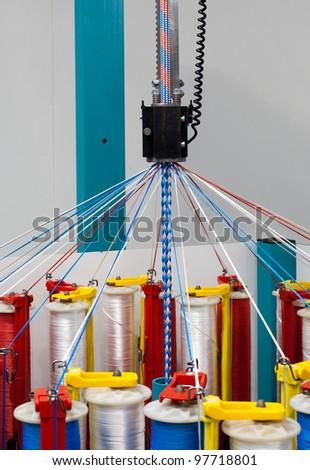 Rope braiding machine - stock photo