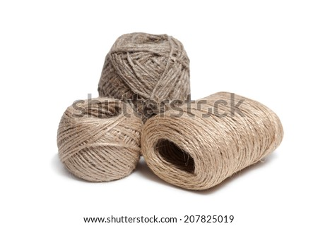 Rope coils isolated on white background - stock photo