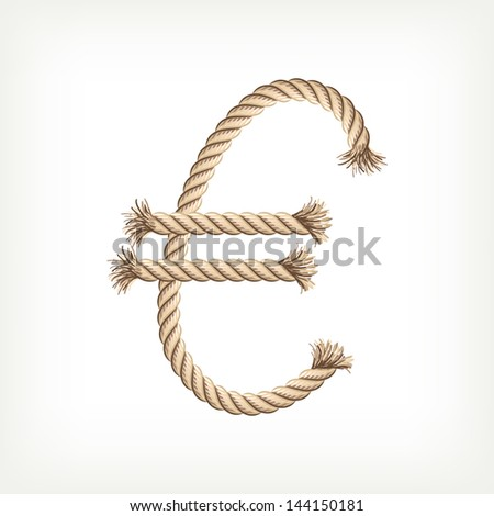 Rope euro. Raster version. Vector is also available in my gallery