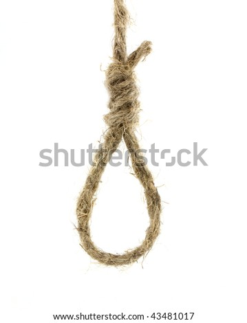 Rope gallows isolated on white background - stock photo