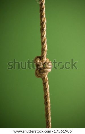 Rope in a knot
