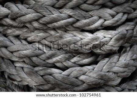 Rope in harbour.Abstract Background Texture Of Thick, Strong Rope - stock photo