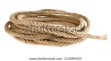 rope isolated a white background - stock photo
