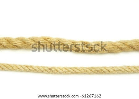 rope isolated on a white background - stock photo