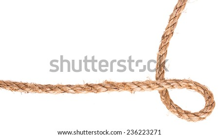 rope knot frame solated on white background - stock photo