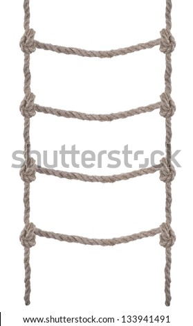 Rope ladder - stock photo