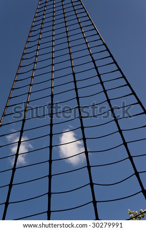 rope ladder in the sky