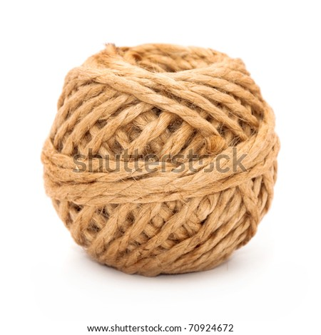 Rope made from hemp isolated over a white background