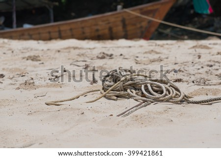 Rope on the sand