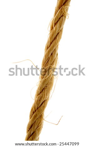 Rope over white