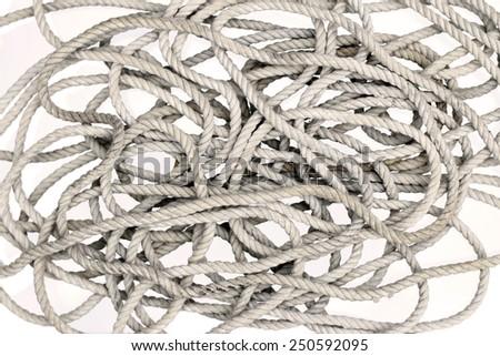 rope - tangled rope - stock photo