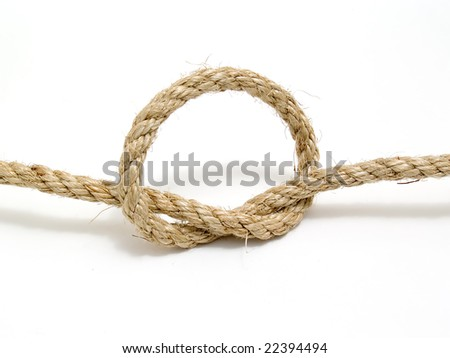 rope with knot - stock photo