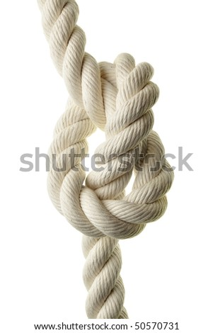 Rope with tie isolated over white background