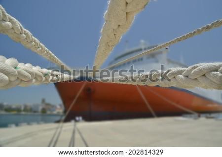 ropes  - blur - stock photo