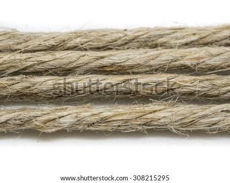 Ropes isolated on white background - stock photo