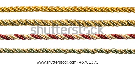 Ropes on a white background - stock photo