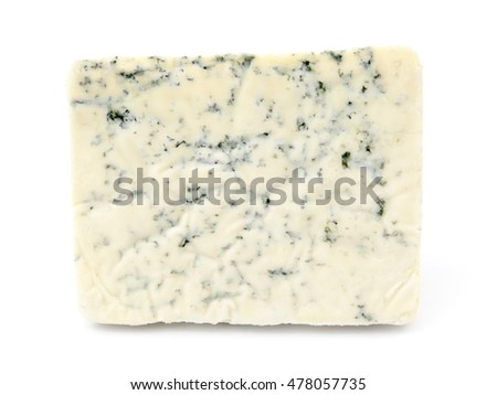 Roquefort cheese on top of a white background.