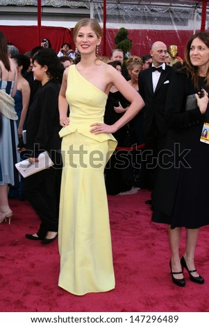 Rosamund Pike 80th Academy Awards ( Oscars) Kodak Theater Los Angeles, CA February 24, 2008 - stock photo
