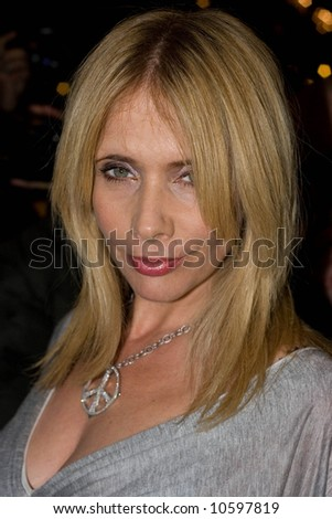 Rosanna Arquette arrives at the press night for Desperately Seeking Susan showing at The Novello Theatre, The Aldwych, London on the 15th Nov 2007